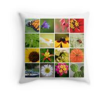 Macro Collage Throw Pillow