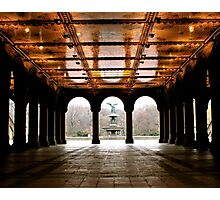 Bethesda Fountain Center Photographic Print