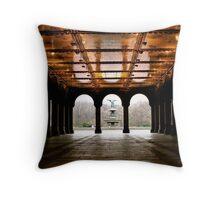 Bethesda Fountain Center Throw Pillow
