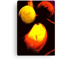 floating fruit... an abstract Canvas Print