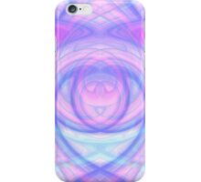 Hypno Blue-Pink-Cyan Curves iPhone Case/Skin