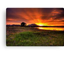 Granite Mountain Sunset 2 Canvas Print
