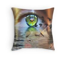 The eye of the beholder Throw Pillow
