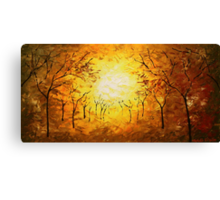 The Autumn March Canvas Print