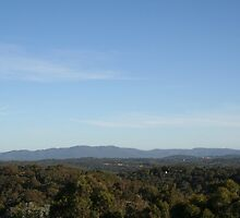 View of Mt Dandenong from Kangaroo Ground by Jeff Hobbs