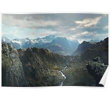 Himalayan Vista - digital paint, no photo composites  (2002) Poster