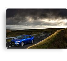 The Mitsubishi Lancer Evo X .... Canvas Print