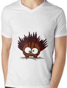 Hedgehog (no text) Mens V-Neck T-Shirt