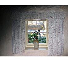 Cottage Window View Photographic Print