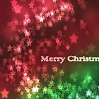Merry Christmas - star bokeh by Bianca Todd
