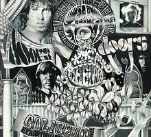 Doors Concert Poster - Toronto, (1968) - ballpoint on board by John Fraser