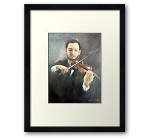 Chris and His Violin Framed Print