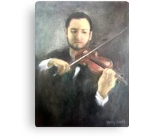 Chris and His Violin Canvas Print