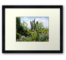 Rural Garden Framed Print