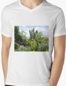 Rural Garden Mens V-Neck T-Shirt