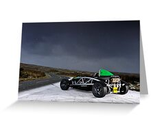 Ariel Atom in the snow .... Greeting Card