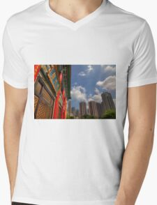 Wong Tai Sin Temple Mens V-Neck T-Shirt