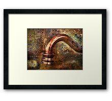 Plumbing Art Framed Print