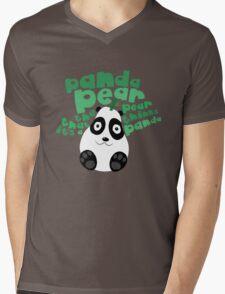 Pandapear Mens V-Neck T-Shirt