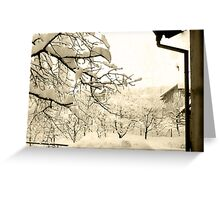 Real Winter in Town Greeting Card