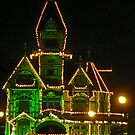 The Carson Mansion at Christmas by Bryan D. Spellman