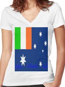 Irish Oz  Women's Fitted V-Neck T-Shirt