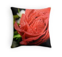 Wind-blown Rose Throw Pillow