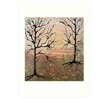 Naked Trees Art Print