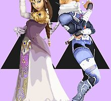 Zelda and Sheik by Ngea