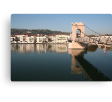Bridge over the Rhone at Vienne Canvas Print