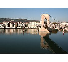 Bridge over the Rhone at Vienne Photographic Print