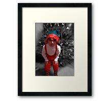 a christmas elf Framed Print