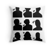 Sherlock Cast Throw Pillow