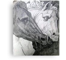 Horse sculpture Canvas Print