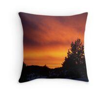 Juniper Fire Sunset Throw Pillow
