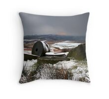Passing Snowstorm Throw Pillow
