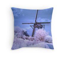 Windmill - infrared Throw Pillow