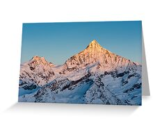 Weisshorn at sunrise Greeting Card