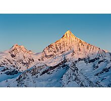 Weisshorn at sunrise Photographic Print