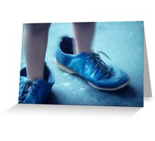 blue shoes Greeting Card