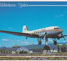DC 3 Weather Vane - Whitehorse, Yukon Canada by Phil Woodman