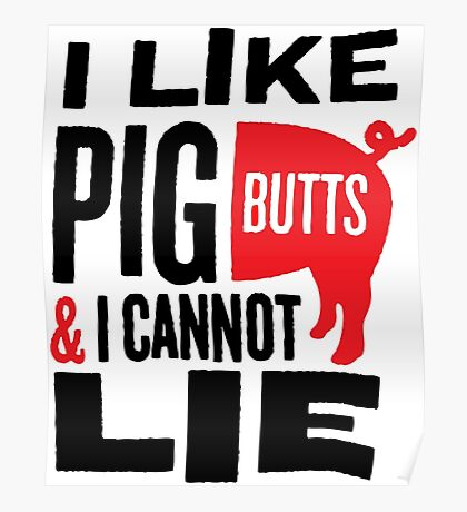 Pig Butts Poster