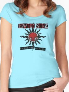 Evil Sunz - Da Red Onez Go Fasta Women's Fitted Scoop T-Shirt