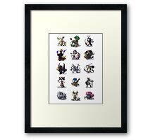 Final Fantasy Pokemon Collection Set 1 Framed Print