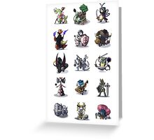 Final Fantasy Pokemon Collection Set 1 Greeting Card