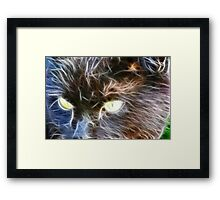 Fractalius Cat Framed Print
