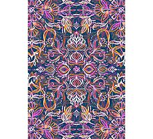 Vivid Celebration - a pattern in magenta, purple and orange Photographic Print