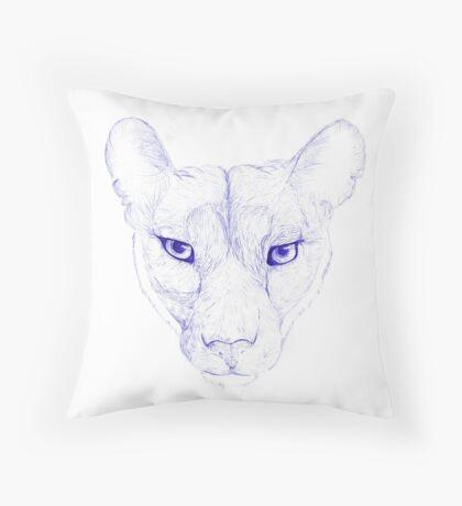 Mountain Loin has its gaze on you Throw Pillow