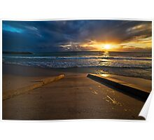 Sunset at Cottesloe 3 Poster