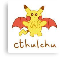 Cthulchu - Cthulhu Pikachu Canvas Print